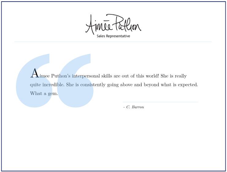 Testimonial for Aimee Puthon
