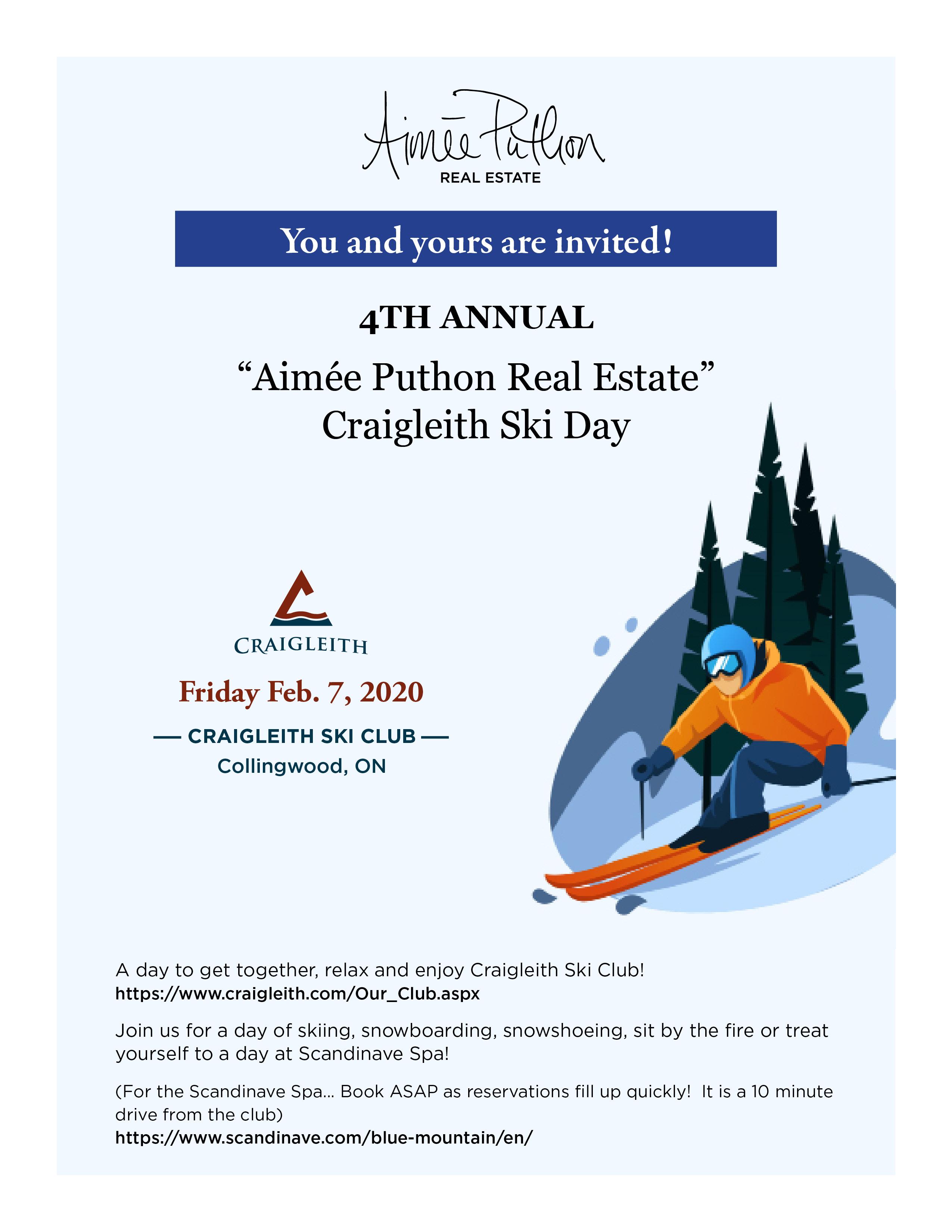 Aimee Puthon Real Estate Ski Day 2020