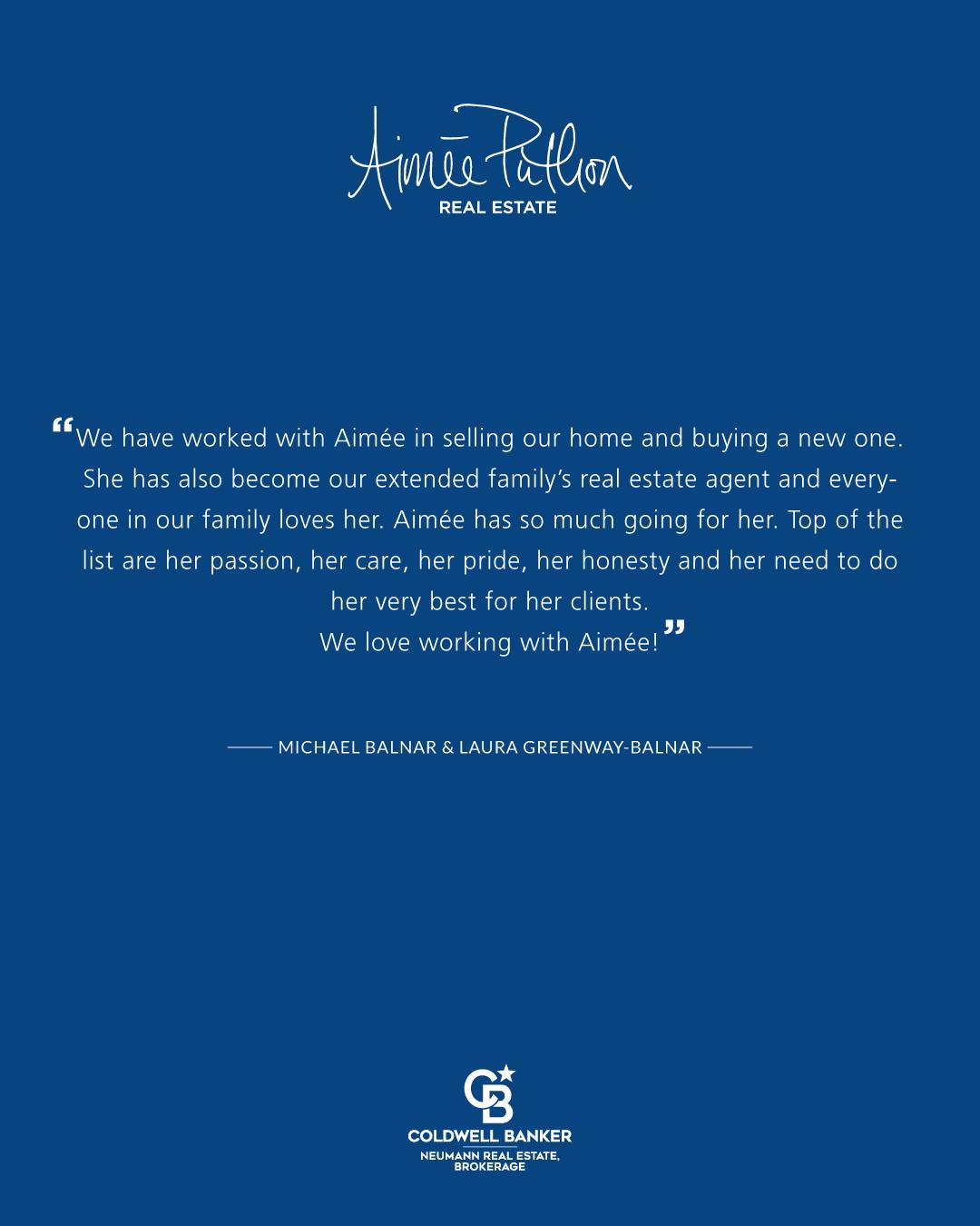 Aimée Puthon RE Testimonial